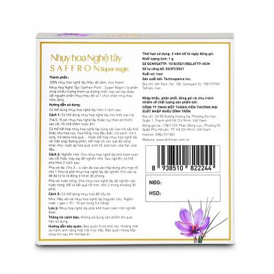 Saffron - Nhụy hoa Nghệ tây Dĩnh Trần - 1g